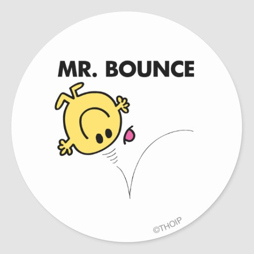 Mr Bounce Classic 1 Stickers