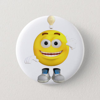 Mr. Brainy the Emoji that Loves to Think 6 Cm Round Badge