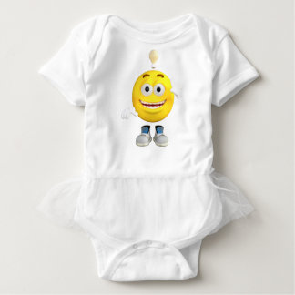 Mr. Brainy the Emoji that Loves to Think Baby Bodysuit