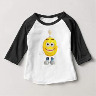 Mr. Brainy the Emoji that Loves to Think Baby T-Shirt