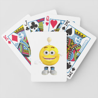 Mr. Brainy the Emoji that Loves to Think Bicycle Playing Cards