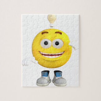 Mr. Brainy the Emoji that Loves to Think Jigsaw Puzzle