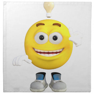 Mr. Brainy the Emoji that Loves to Think Napkin