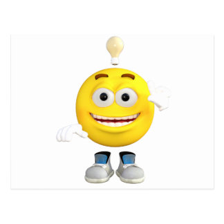 Mr. Brainy the Emoji that Loves to Think Postcard