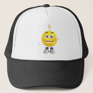 Mr. Brainy the Emoji that Loves to Think Trucker Hat
