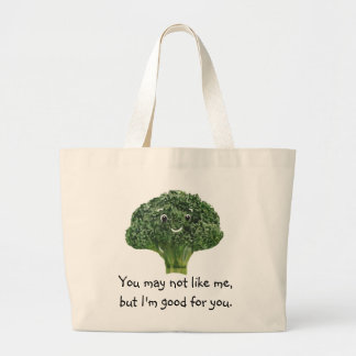 Mr.Broccoli Large Tote Bag