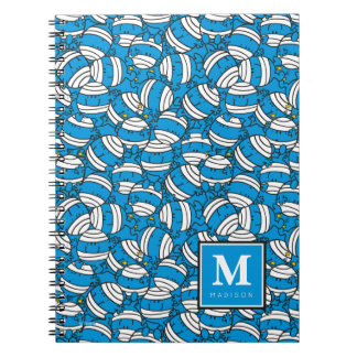 Mr Bump | Blue Confusion Pattern | Add Your Name Notebook