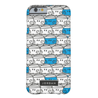 Mr Bump | Blue Pattern | Add Your Name Barely There iPhone 6 Case