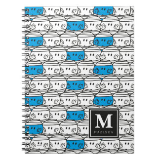 Mr Bump | Blue Pattern | Add Your Name Notebook