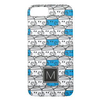 Mr Bump | Blue Pattern | Monogram iPhone 8/7 Case