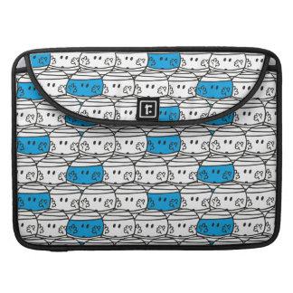 Mr Bump   Blue Pattern Sleeve For MacBooks