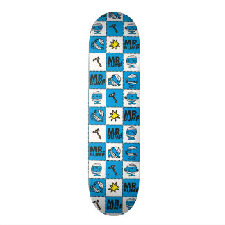 Mr Bump | Mosaic In Blue Pattern 21.6 Cm Old School Skateboard Deck