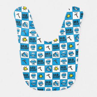 Mr Bump | Mosaic In Blue Pattern Bib