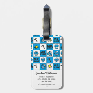 Mr Bump | Mosaic In Blue Pattern Luggage Tag