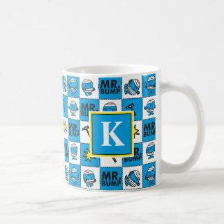 Mr Bump | Mosaic In Blue Pattern | Monogram Coffee Mug