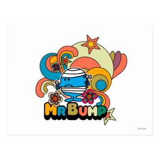 Mr. Bump | Psychedelic Thumb Injury Postcard