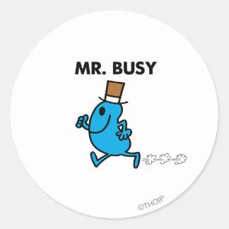 Mr Busy Classic 1 Round Sticker