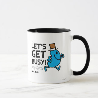 Mr. Busy | Let's Get Busy Black Text