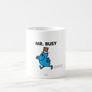 Mr. Busy Running Quickly Basic White Mug