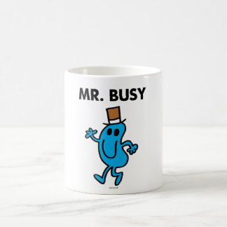 Mr. Busy Waving Hello Basic White Mug