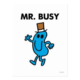Mr. Busy Waving Hello Postcard