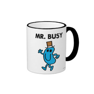 Mr. Busy Waving Hello Ringer Mug
