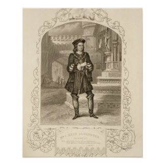 Mr C. Kean as Gloster, Act I Scene 1, in Richard I Posters