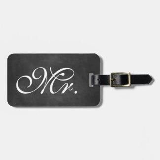 Mr. Chalkboard Luggage Tag
