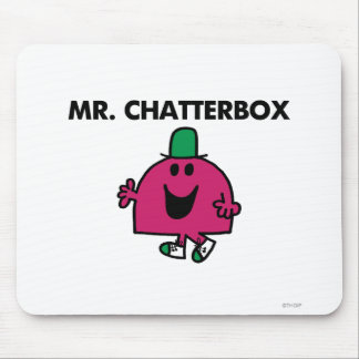 Mr. Chatterbox Waving Hello Mouse Pad