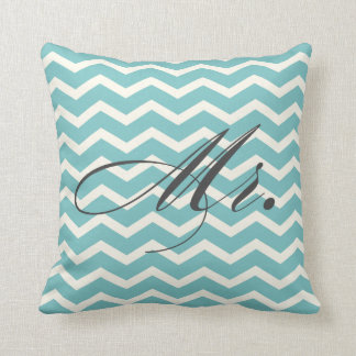 Mr. Chevron Stripes American MoJo Pillow Throw Cushion