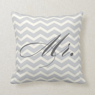 Mr. Chevron Stripes American MoJo Pillow Throw Cushions