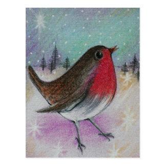 Mr Christmas Robin Postcard