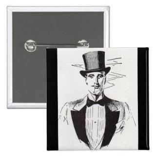 Mr. Classy, sharp dressed man 15 Cm Square Badge