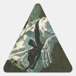 Mr Cool, Man laid back have a smoke Triangle Sticker