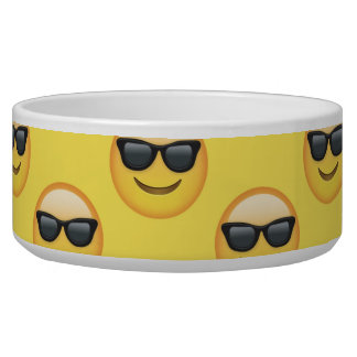 Mr Cool Sunglasses Emoji Pet Food Bowl