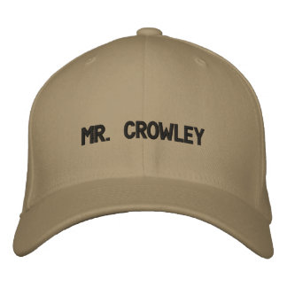 MR. CROWLEY EMBROIDERED BASEBALL CAPS