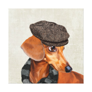 Mr Dachshund Canvas Print