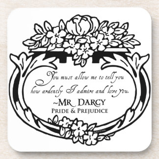 Mr Darcy Loves and Admires Coaster
