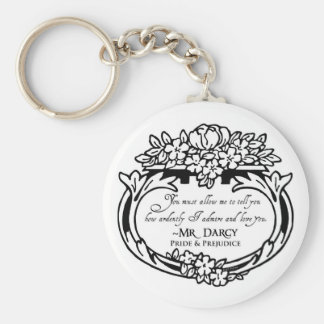 Mr Darcy Loves and Admires Key Ring