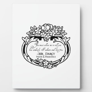 Mr Darcy Loves and Admires Plaque