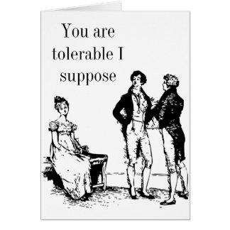 Mr Darcy Valentine Card no2 - Pride and Prejudice