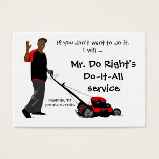 Mr. Do Right'sDo-It-All service Business Card