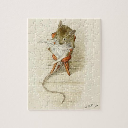 Mr. Dormouse Reading the Newspaper Jigsaw Puzzle