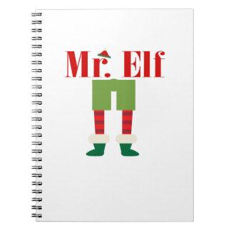 Mr. Elf Matching Couple Christmas Notebook