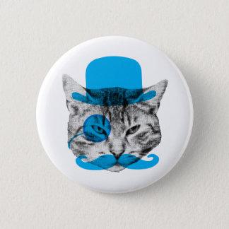 Mr. Fancy Cat 6 Cm Round Badge