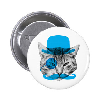 Mr. Fancy Cat 6 Cm Round Badge