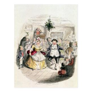 Mr Fezziwig's Ball, from 'A Christmas Carol' Postcard