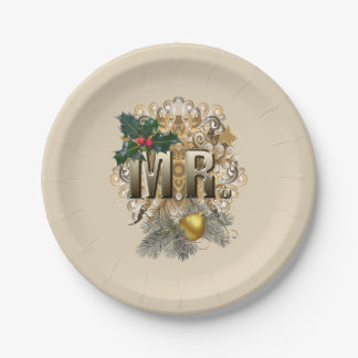MR.First Christmas Paper Plate