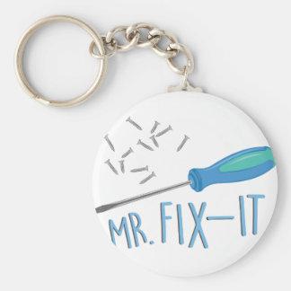 Mr Fix-it Basic Round Button Key Ring