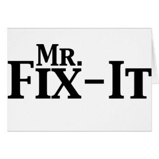 mr fix it greeting card